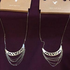 Silver tone necklaces